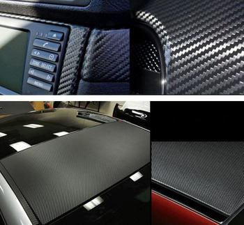 127x10cm Car Styling High Quality Stickers 3D Carbon Fiber twill strip Film Viny wrap Decoration DIY easy decal Wholesale image