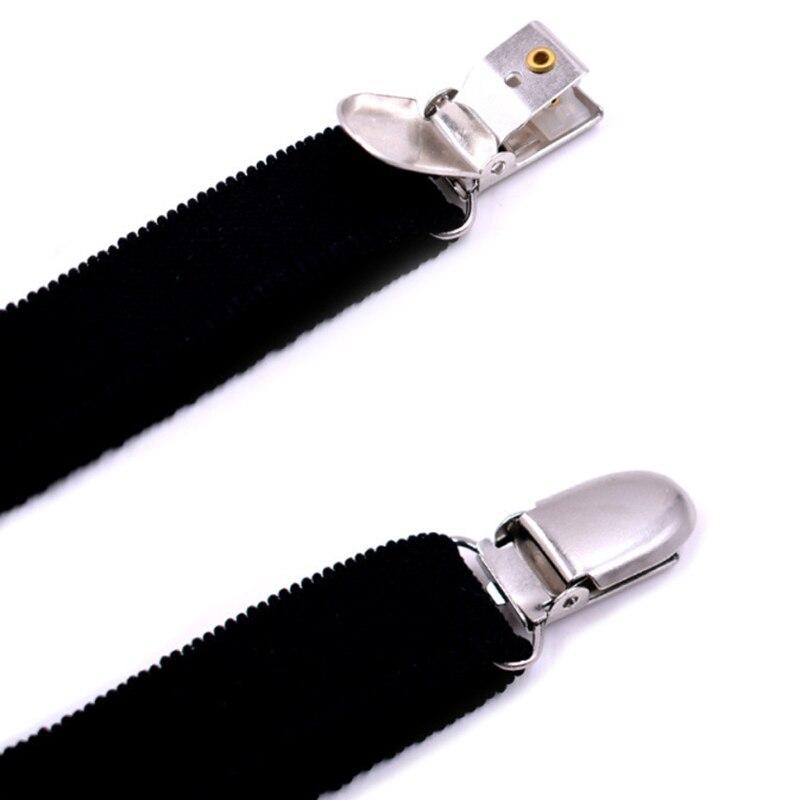 2Pcs/Set Y Style Elastic Leg Suspender Strap Shirt Stays Non-slip Locking Clamps LX9E