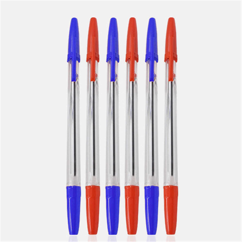 50 adet 0.7mm orta tükenmez kalemler tükenmez Biros kırmızı mavi siyah klasik görünüm mükemmel okul öğrencileri için