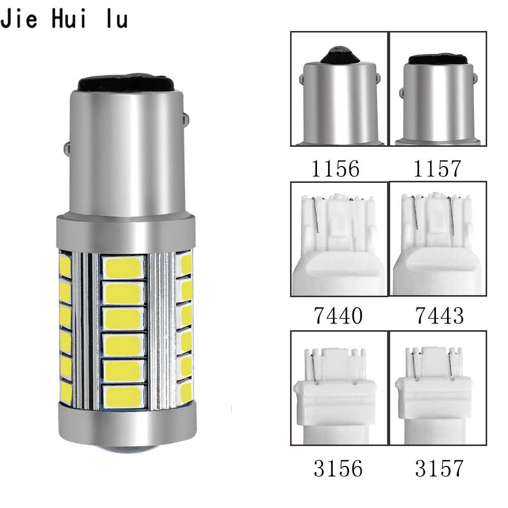 1156 1157 P21/5W BAY15D Super Bright 33 SMD 5630 5730 LED brake lights fog lamp 21/5w car daytime running light stop bulbs 12V