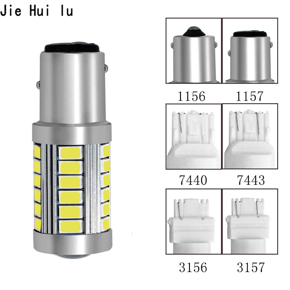 1156 1157 P21/5W BAY15D Super Bright 33 SMD 5630 5730 <font><b>LED</b></font> brake lights fog lamp 21/5w car daytime running light stop <font><b>bulbs</b></font> 12V image