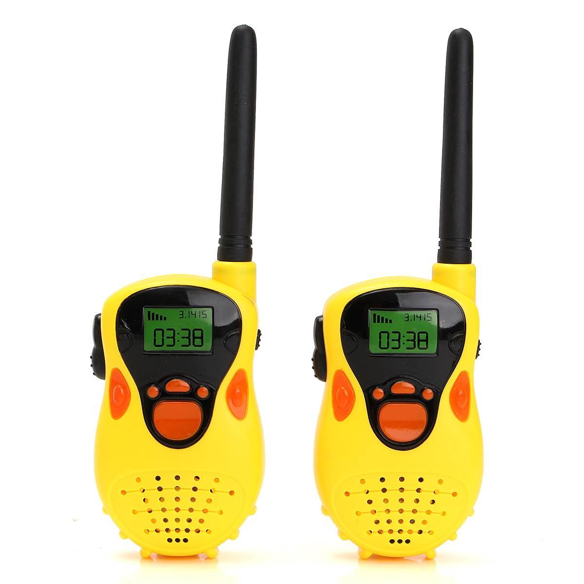1 Pair Mini Walkie Talkie Kids Radio Two Handheld Channel Walkies Talkie For Children Toy Educational Games Transceiver Kid
