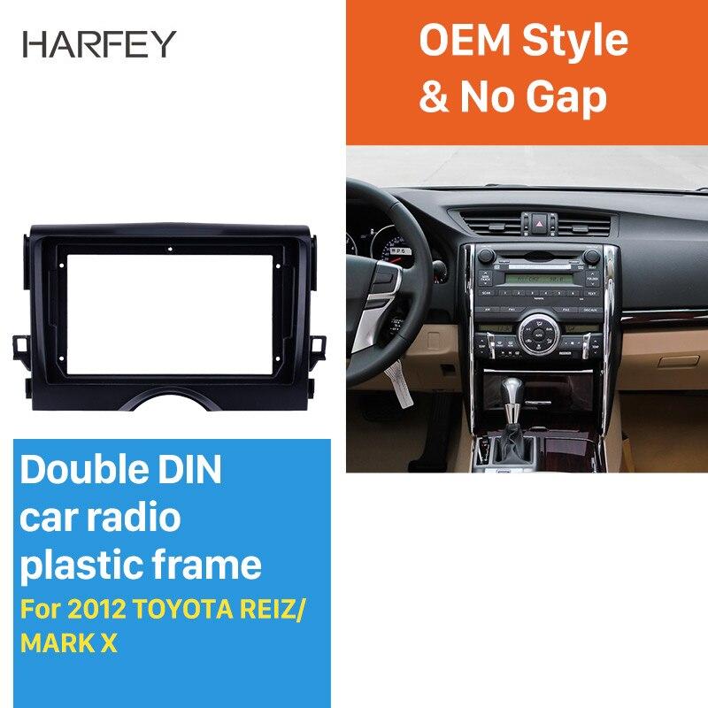 Car Stereo Radio Fascia Panel Trim Kit 2 Din Frame For Toyota Mark X //Reiz