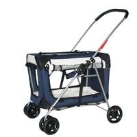 2019 Pet Stroller Dog Cat Stroller Outdoor Windproof Car Stroller Light Portable Folding Bike Bag Separated Dog Stuff
