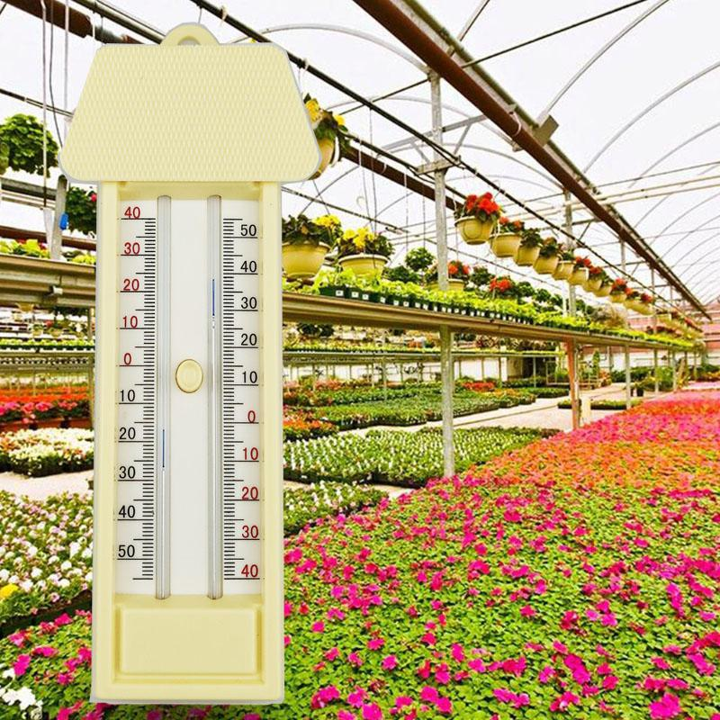Greenhouse Max-Min Press Thermometer Traditional Temperature Monitor -40 To 50 Degree