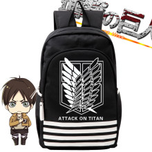 Anime Attack on Titan Black Wings Backpack Student Mens Boys Schoolbag Book Bag Shoulder Travel Bags Purse Back Pack Knapsack(China)
