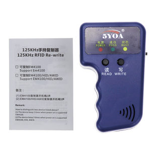 Image 5 - Handheld 125KHz EM4100 TK4100 RFID Copier Writer Duplicator Programmer Reader EM4305 T5577 Rewritable ID Keyfobs Tags