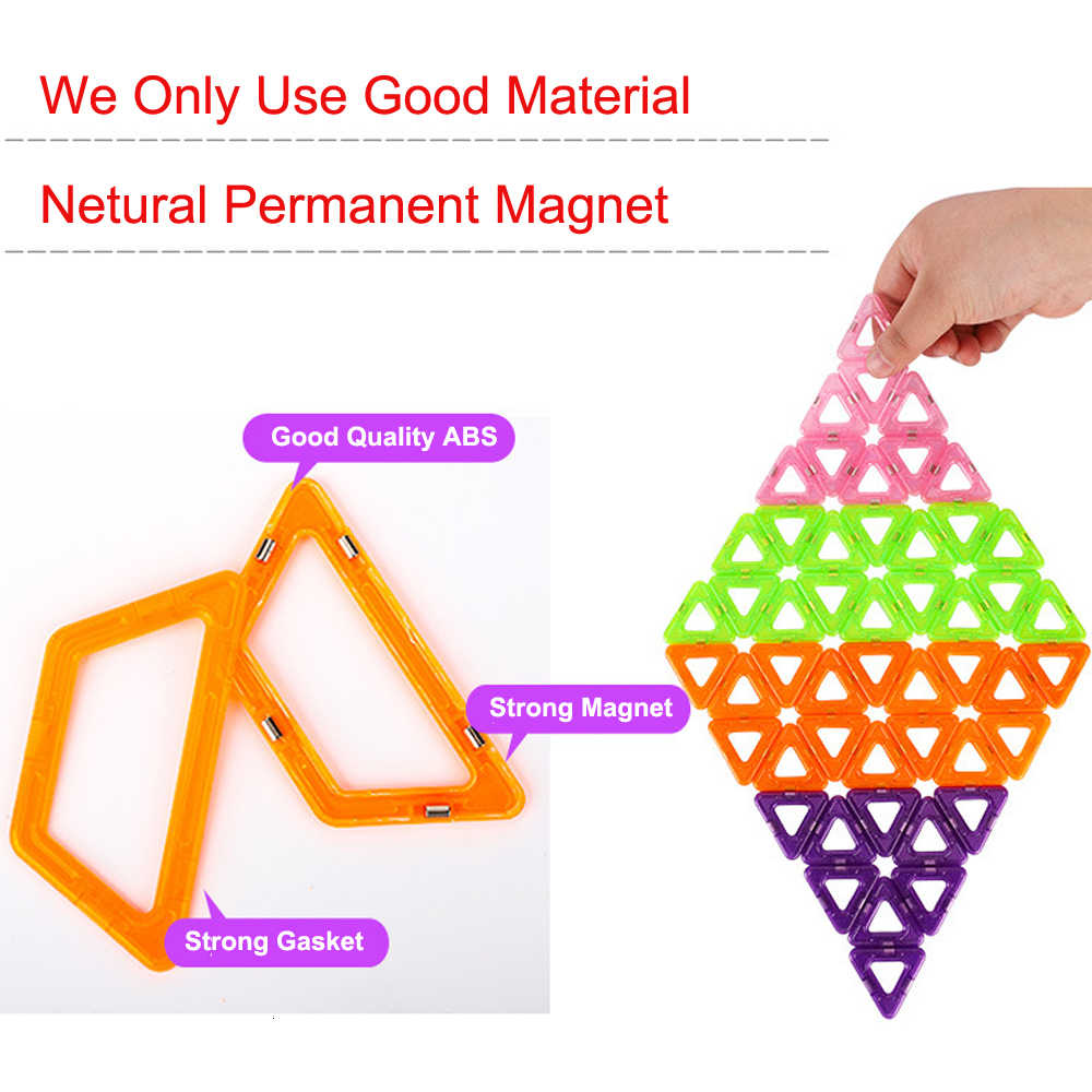 46 Pcs Ukuran Mini Magnetic Blok Bangunan Magnetik Desainer Construction Set Ferris Wheel Model Konstruktor Mainan untuk Anak-anak GIF