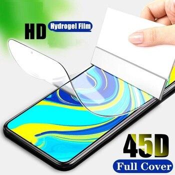 Перейти на Алиэкспресс и купить Гидрогелевая пленка для Vivo Z6 IQOO 3 5G V17 SD675 X30 Z1 Z5X Pro S5 полное покрытие изогнутое Защитное стекло для экрана не закаленное стекло