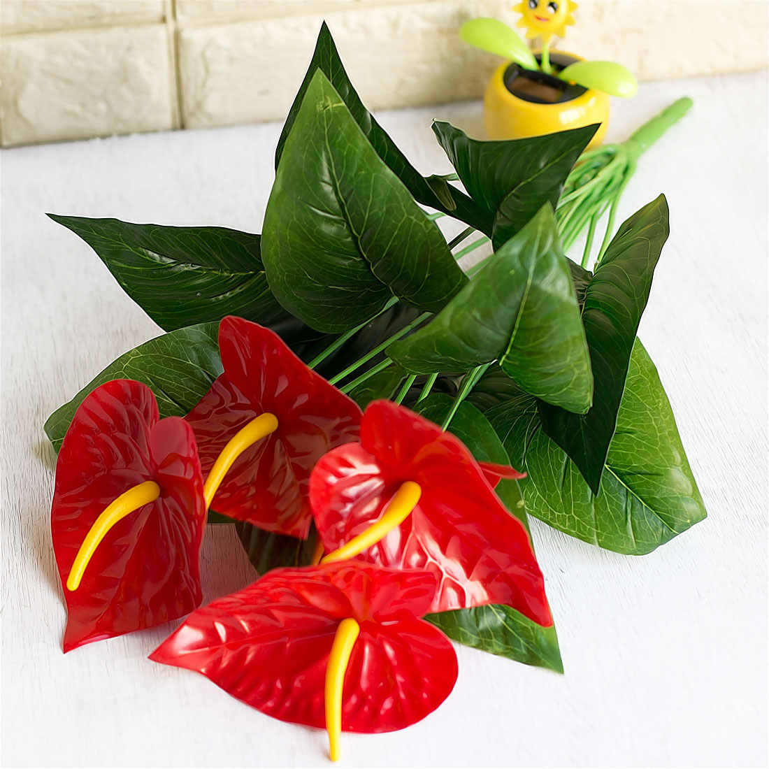 Artificial Anthurium Potted Flowers