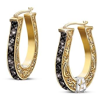 14K Yellow Gold Earring for Women White 1carat Diamond Garnet Jewelry Aretes De Mujer Oorbellen 14K Gold Orecchini Earring Women