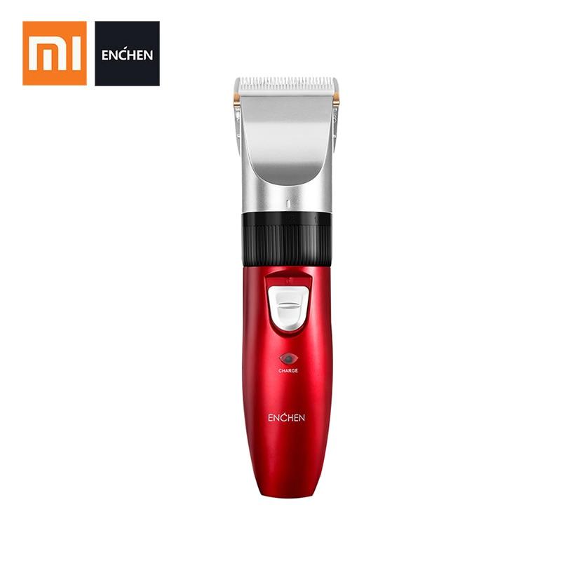 Xiaomi ENCHEN Sharp EC-712 Men's Electric Hair Trimmer USB Clipper Hair Rechargeable red Clipper Hair Cutter for Men Adult Razor