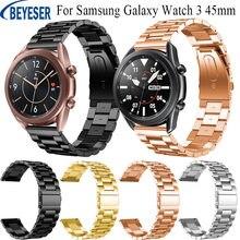 Ремешок из нержавеющей стали для samsung galaxy watch 3 роскошный