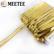 Ruban doré de 10/20 mètres, 5 à 10mm de largeur, pour confection de cheveux faits à la main, accessoires de bijouterie