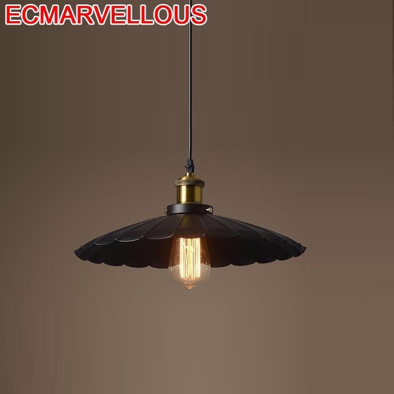 Design Lampara De Techo Colgante Moderna Industriele Industrial Loft Suspension Luminaire Hanging Lamp Deco Maison Pendant Light in Pendant Lights from Lights Lighting