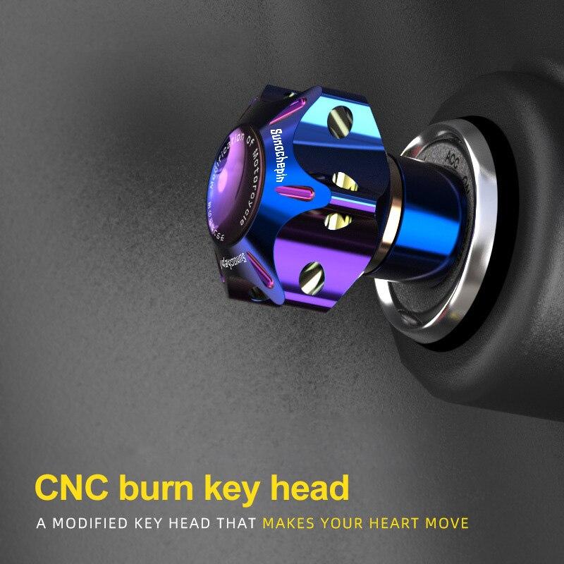 Auto Schlüssel Ringe Geändert CNC Schlüssel Kopf Geändert Verbrannt Titan Schlüssel Shell Schlüssel Griff Schlüssel Shell Für KTM 125 Rudern 400 Mavericks UM