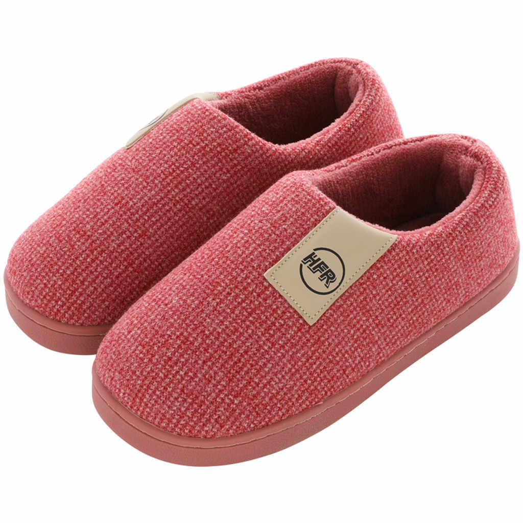 Women Winter Warm Home Plush Loafer Slipper Couple Shoes Female Slip On Soft Indoor Flats Comfort Ladies & Man Plus Size