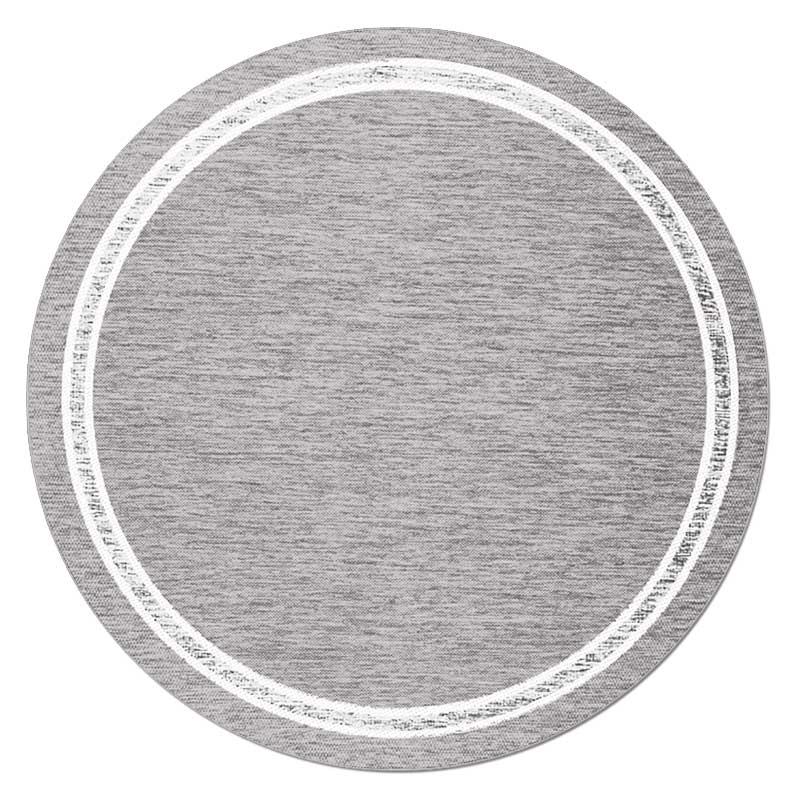 Скандинавский современный ковер гостиная круглый ковер простые одноцветные Коврики Спальня прикроватный коврик домашний стул для прихожей круглый коврик игровой коврик - Цвет: 4
