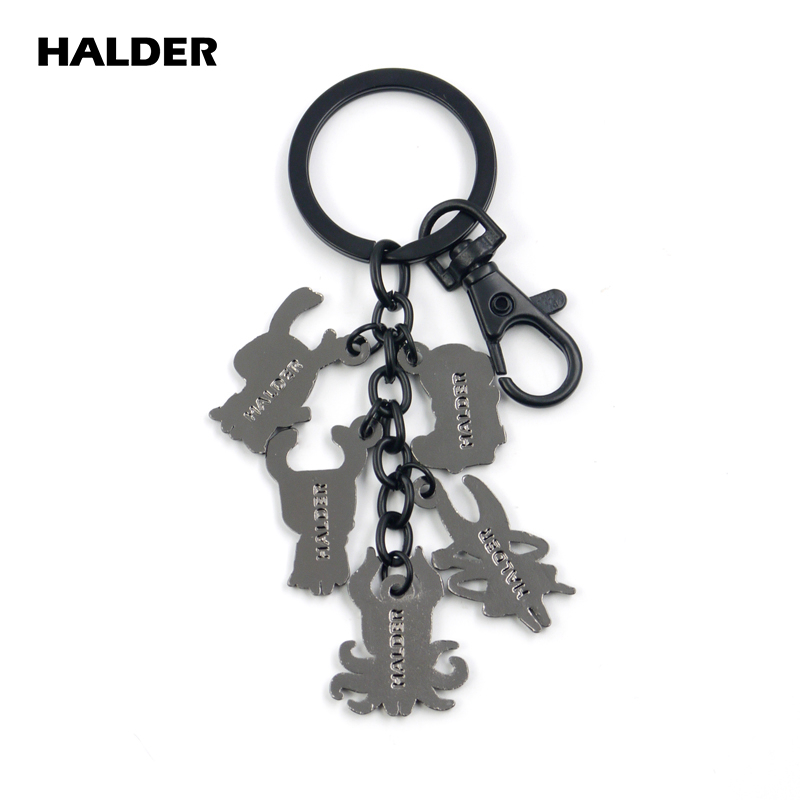 Cat Caterpillar logo emblem Keychain keyring Key Holder Keyholder