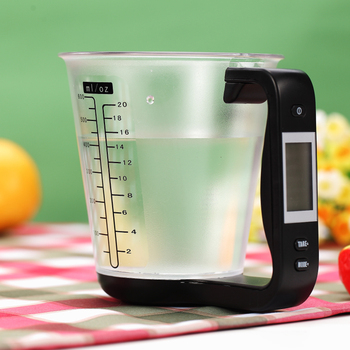 Scale with LCD Display Temperature Large Capacity Measuring Cup Kitchen Scale Digital Beaker Electronic Measuring CupTool image