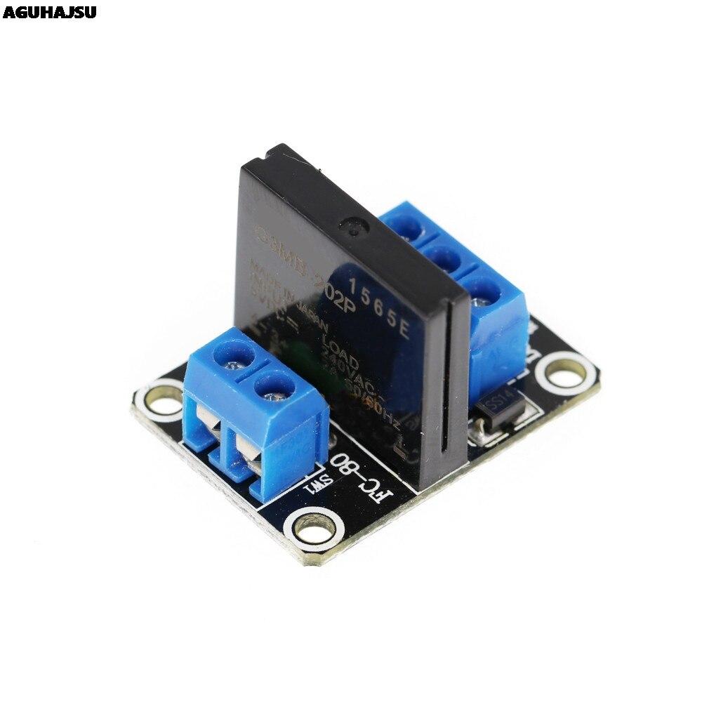 5 в 1 канал OMRON SSR высокоуровневый твердотельный релейный модуль 250 В 2A для Arduino