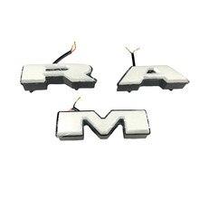Apto para dodge ram carro adesivo ram led emblema grade dianteira letras para dodge ram 1500 2500 3500 estilo do carro logotipo ram adesivos de carro