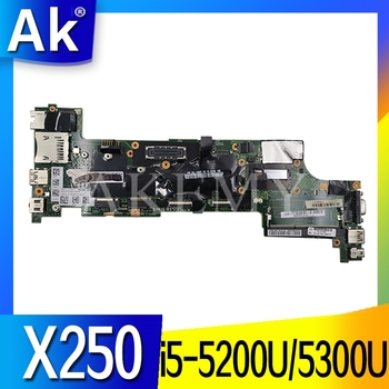 SAMXINNO For Lenovo ThinkPad X250 Laotop Mainboard NM-A091 00HT370 00HT379 00HT386 Motherboard with i5-5200U/i5-5300U CPU