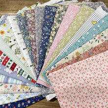 Clearance CottonTwill Printed Fabric Cotton Fabric Material By Random Color 0.3m/0.5m/1m