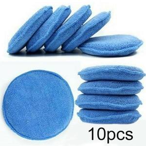 Image 3 - 10 pçs 5 Polegada 125mm almofadas de polimento de carro espuma de cera esponja limpeza de microfibra almofada de polimento