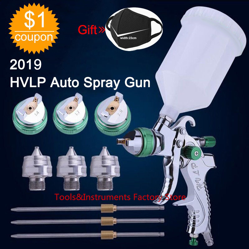 HVLP Paint Spray Gun Set 1.4mm 1.7mm 2.0mm Steel Nozzle Cars Painting Furnitures DIY Painting Kit Car Auto Repair Tool