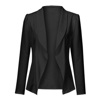 Free Ostrich Women wedding party Casual Lapel Collar Open Front Coat soft stretch slim solid tops