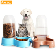 Automatic Pet Cat Feeder Bowl Plastic Cats Dog Food Feeder Storage Small Medium Large Dog Bowls Tableware Pet Feeding Food Bowl
