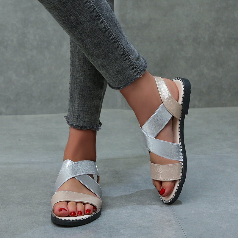 IN 2020 Women Sandals Flip Flops Flats 2020 New Summer Fashion Wedges Shoes Woman Slides Buckle Lady Casual Female Plus