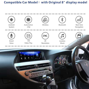 Image 2 - Car Android 10.0 Screen For Lexus RX450h 4wd 2013 Rx270 2012 RX450 RX350H Rx350 GPS Navi Stereo Radio Tape Recorder Head Unit
