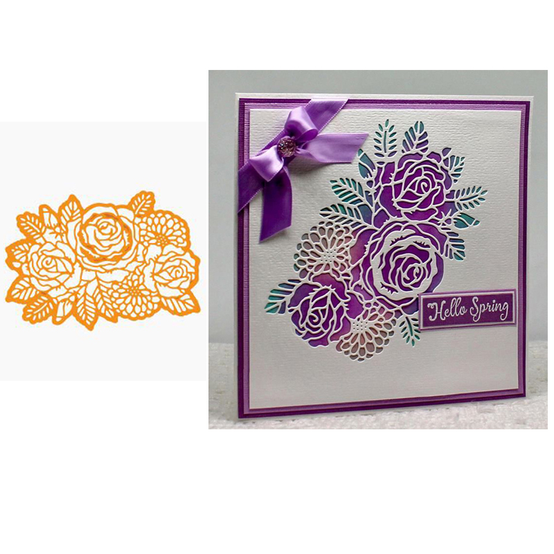 Rose Metal Cutting Dies Scrapbooking Album Decoration Card Making Craft Die DIY