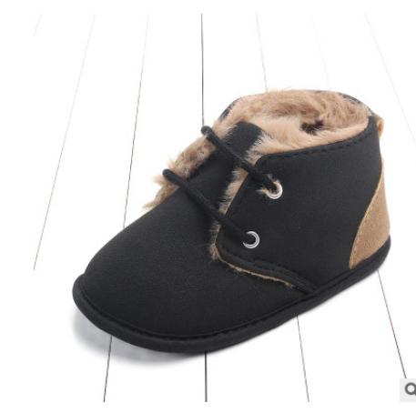 Зимние ботинки для младенцев; Плюшевая обувь кроватки с леопардовым