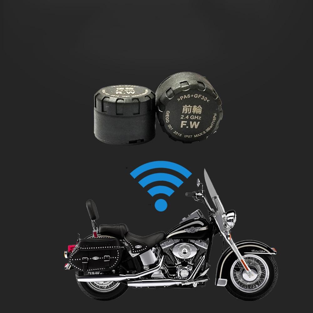 Motorcycle Tire Pressure Monitor Temperature Detector External Smart Waterproof