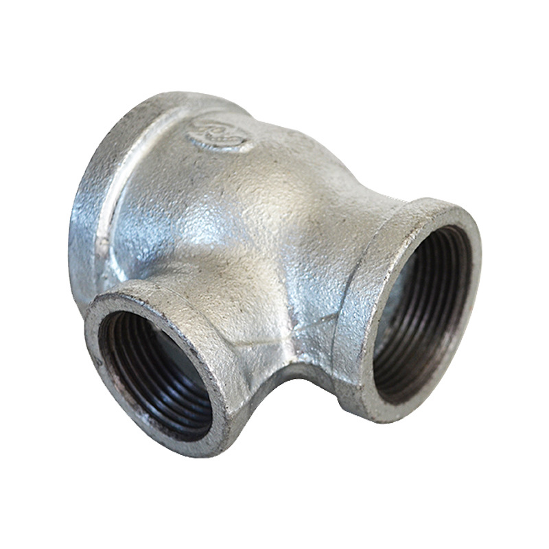 Firefighting Natural Gas Engineering Hot Galvanized Pipe Fitting Malleable Iron Plumbing Firefighting Pipe Fitting T-connector I