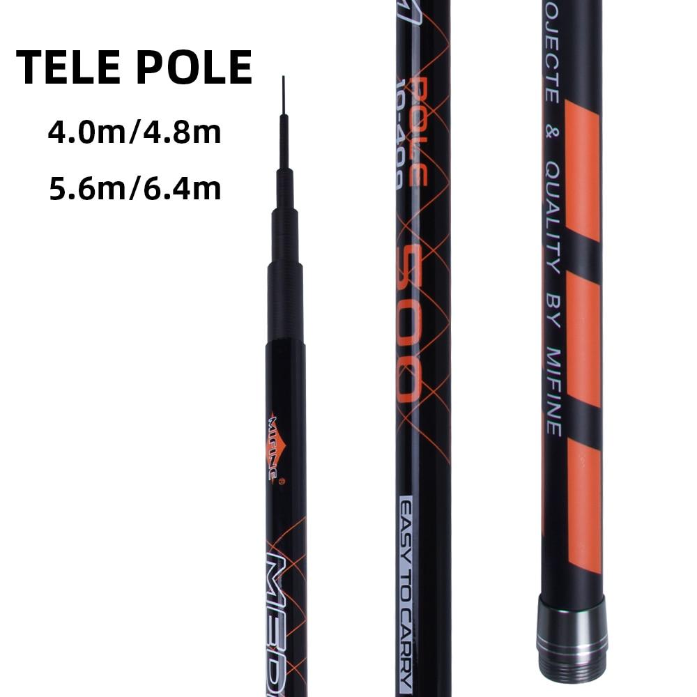 MIFINE MEDIUM POLE telescopic fishing rod hardPower4.0M/5.0M/5.5M/6.5M high Carbon Fiber Rod Spinning Casting Fishing Rod 10 40g|Fishing Rods| |  - title=