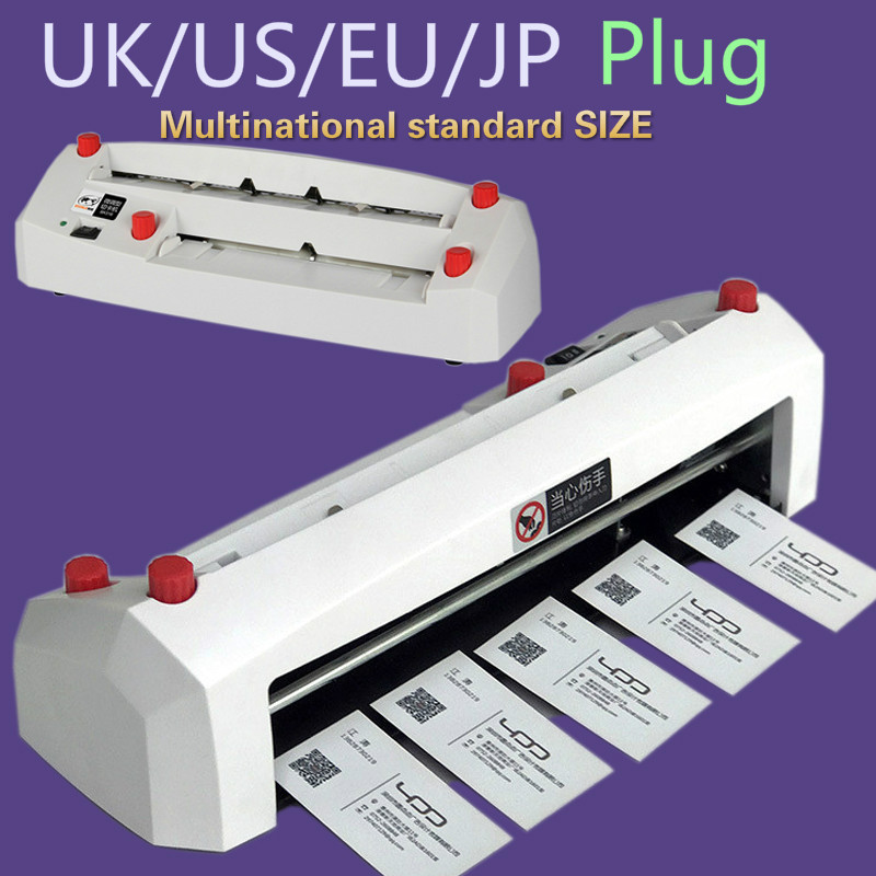 A4 size elektrische card cutter 90*54mm card size SK316 zware fine-tuning elektrische business kaart snijmachine