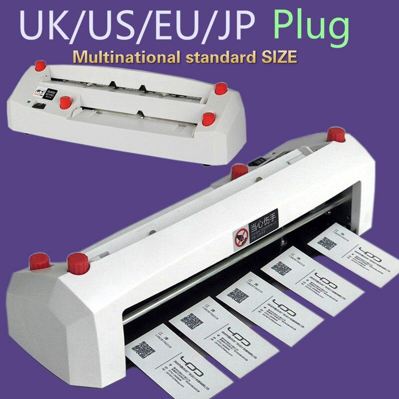 Rozmiar A4 elektryczna gilotyna do wizytówek 90*54mm rozmiar karty SK316 wytrzymała precyzyjna elektryczna maszyna do cięcia kart biznesowych