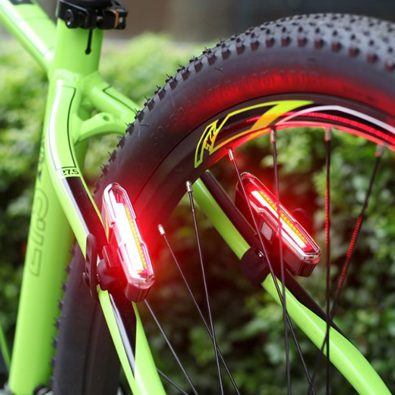 USB Rechargeable Waterproof Bike Tail Warning Light LED Bicycle Rear Light Bicycle Accessories Lighting Tool For Night Cycling