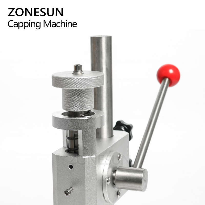 Image 5 - ZONESUN Manual Crimping Machine Perfume Crimper Capper Metal Collar Cap Press Capping Machine Spray Crimper SealsVacuum Food Sealers   -
