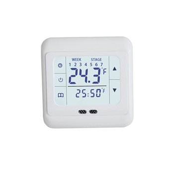 Thermoregulator Touch Screen Heating Thermostat for Warm Floor Electric Heating System Temperature Controller With Kid Lock 600w 32m twin core heating cable for power saving soil heating protection system wholesale hc2 18 600