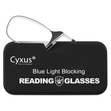 Cyxus Clip On Reading Glasses Anti Blue Light Lens for Women Men Eyeglasses +1.0 +1.5 +2.0  +3.0 Diopter 2606