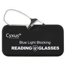Cyxus Clip Op Leesbril Anti Blauw Licht Lens Voor Vrouwen Mannen Brillen + 1.0 + 1.5 + 2.0 + 3.0 Dioptrie 2606