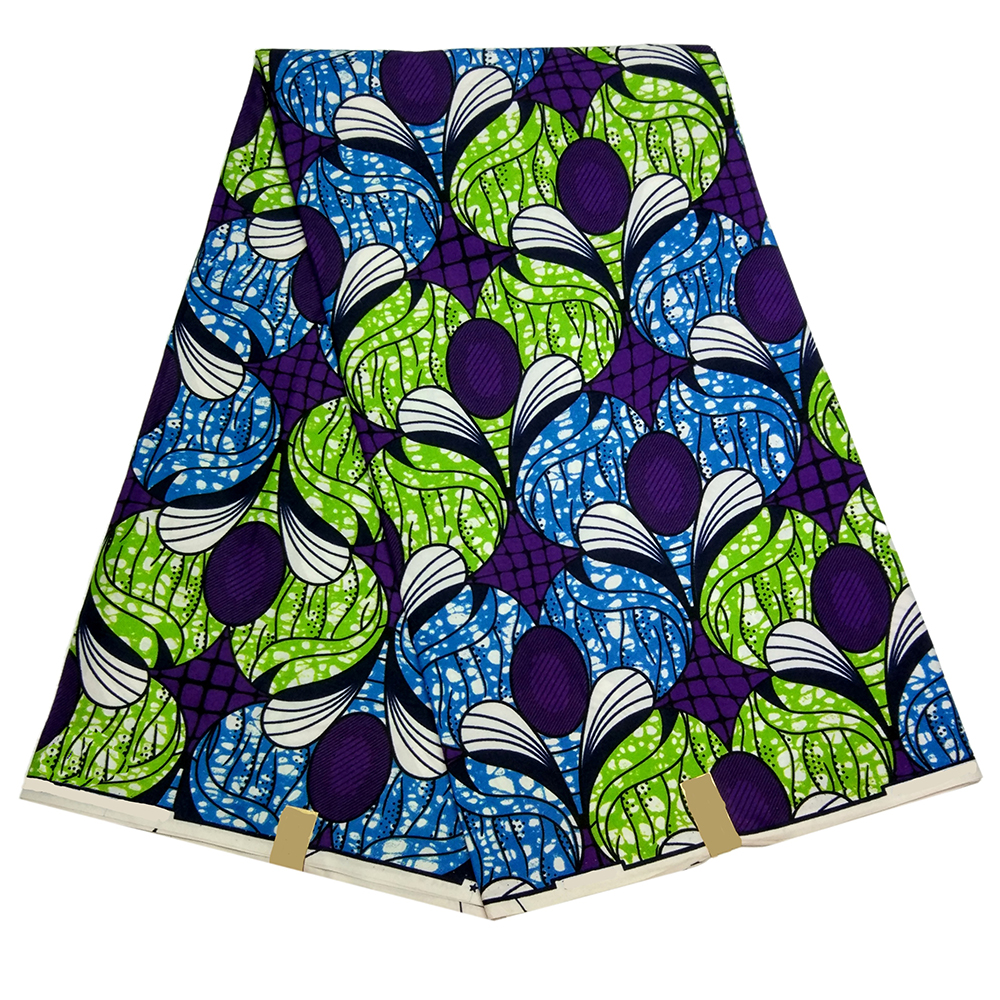 100% Cotton Nigeria Wax Dutch African Wax Print Fabric African Print Fabric 6 Yards Cotton Dutch Wax Fabric