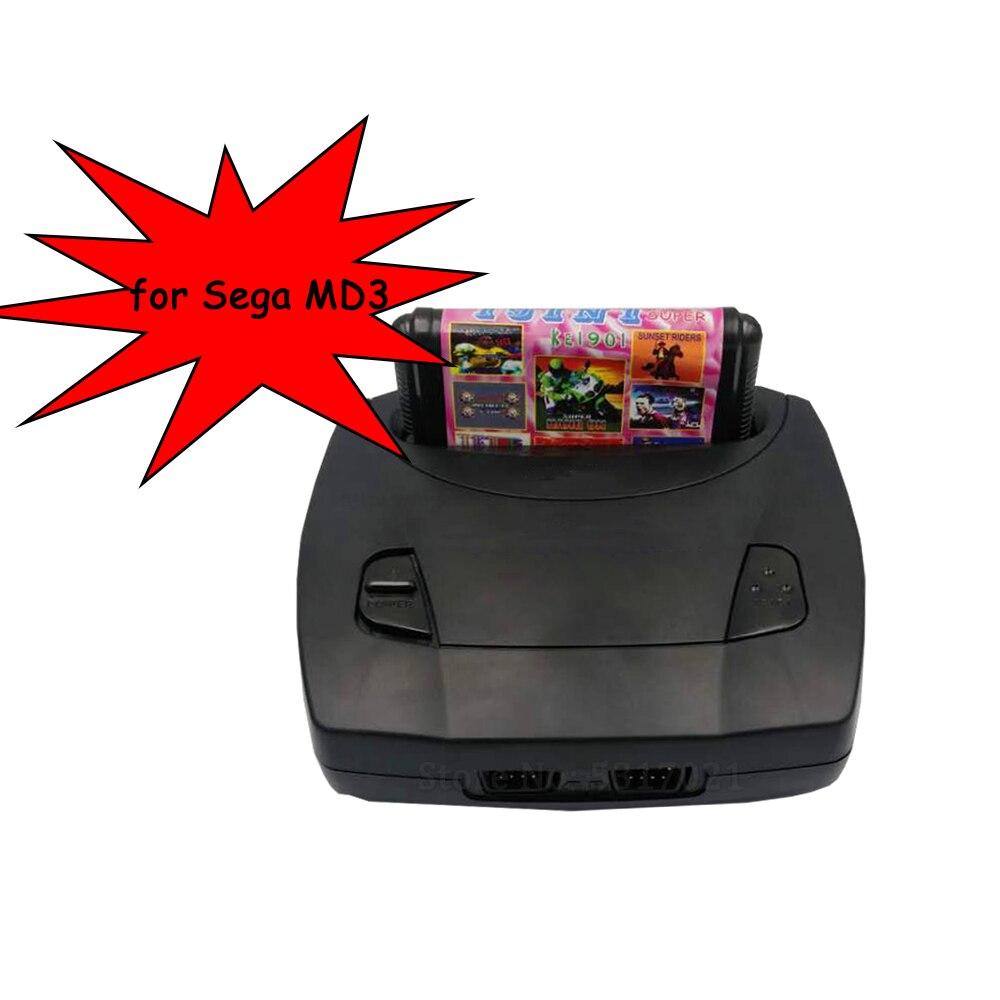 Pour Sega MD3 Console de jeu vidéo 16 bits sortie AV classique lecteur de jeu portable MD Mega Drive 3 contrôleur de jeu TV livraison directe