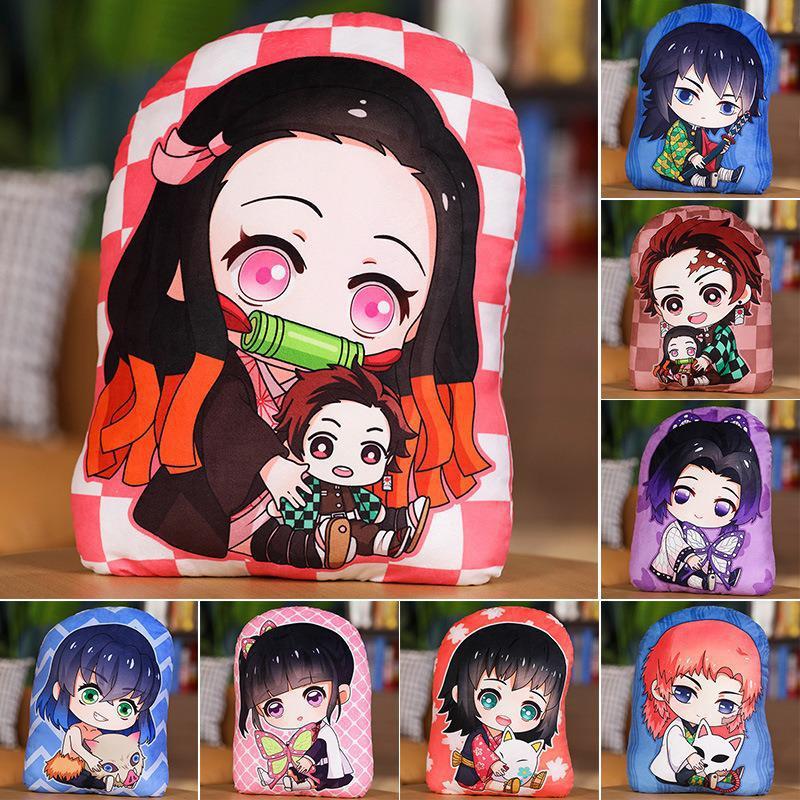 Лезвие дьявола японская Манга Аниме плюши Подушка демон Slayer Kimetsu No Yaiba Tanjirou Nezuko Кукла Мягкие плюшевые игрушки