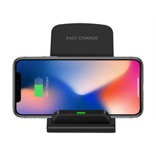 Wireless Charger Qi-Enabled Devices 10W Fast 3.0 Charge Stand Dock Dual Coil Phone Charger For Iphone Huawei Xiaomi Uiniversal